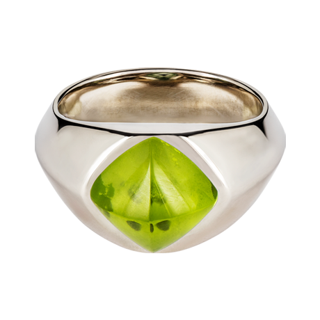 Sugar Loaf Ring Peridot Weißgold