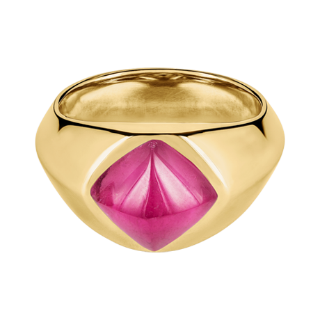 Sugar Loaf Ring Rubellit Gelbgold