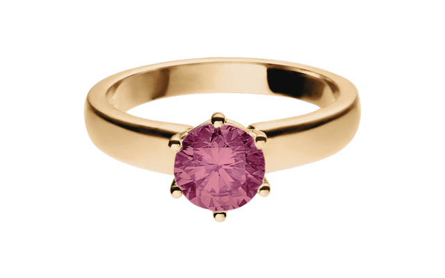 Gemstone Ring Malmö Turmaline pink in Rose Gold