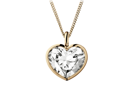 Diamond Pendant Heart in Rose Gold