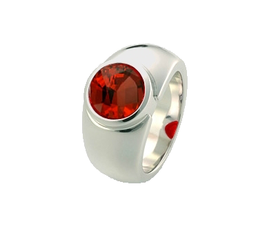 Pure Ring Spinell rot Weißgold
