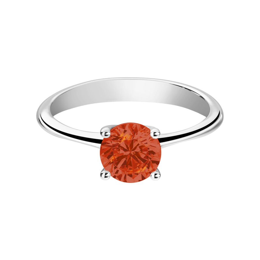 Basel Feueropal orange in Platin