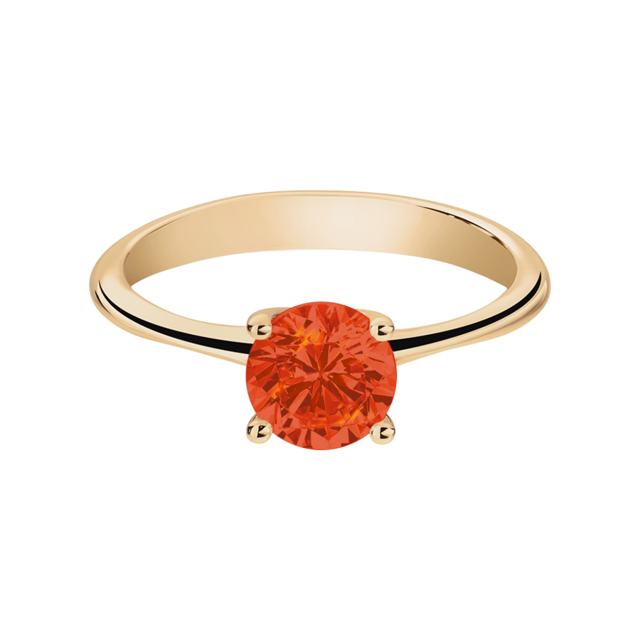 Basel Fire Opal orange in Rose Gold