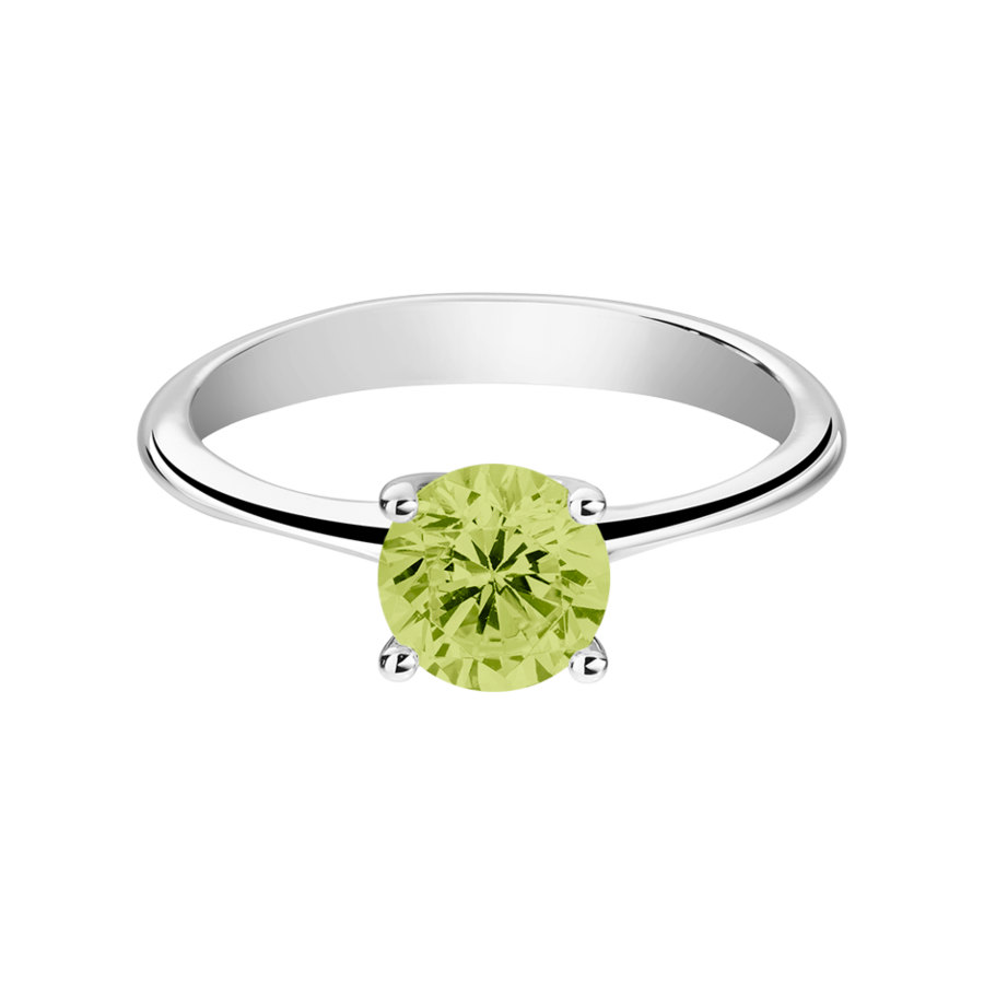 Basel Peridot green in White Gold