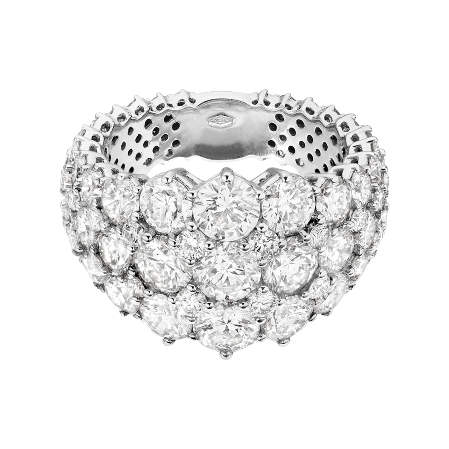 Eternity Ring Jersey in White Gold