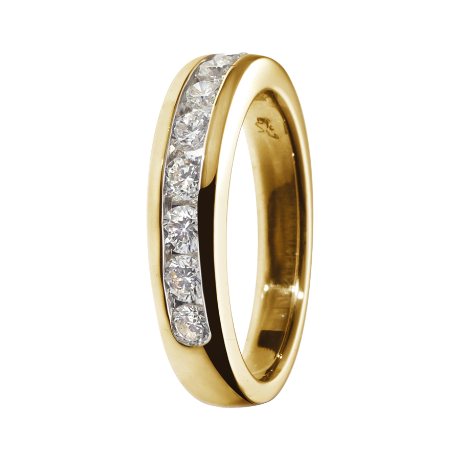Eternity Ring Tallinn G VS in Yellow Gold