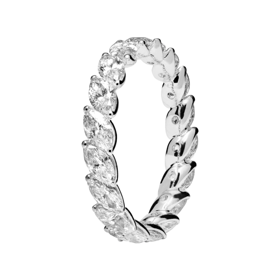 Eternity Ring Venice in White Gold