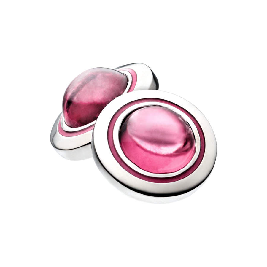 Gents Cufflinks Tourmaline in Palladium