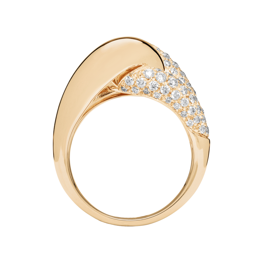 Knot Ring Classics with Diamonds in Rose Gold