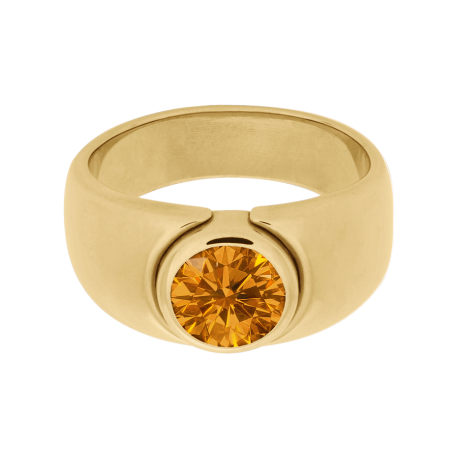 Mantua Madeira Citrin orange in Gelbgold
