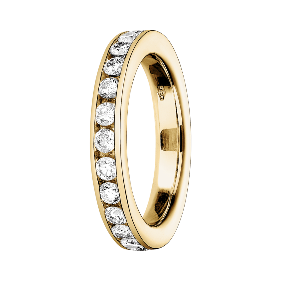 Memoire Ring Amsterdam H SI in Gelbgold