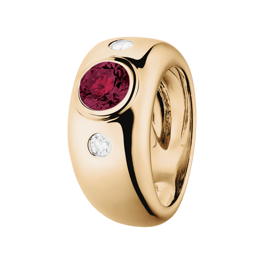 Naples Rhodolite red in Rose Gold