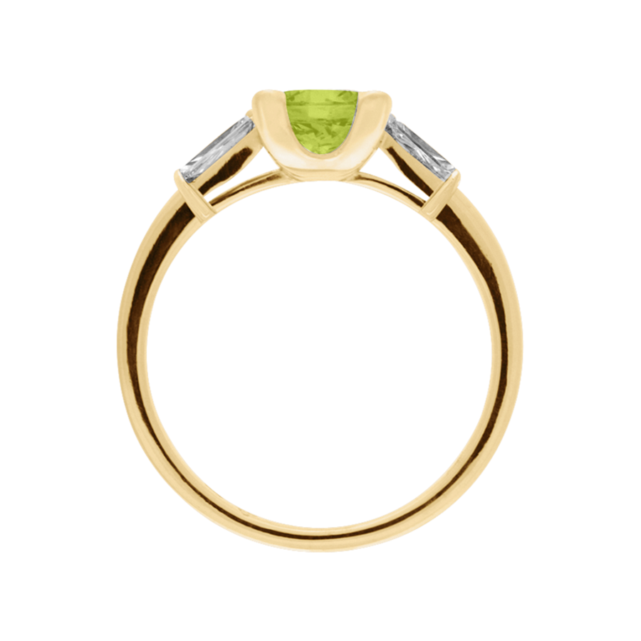 Paris Peridot grün in Gelbgold