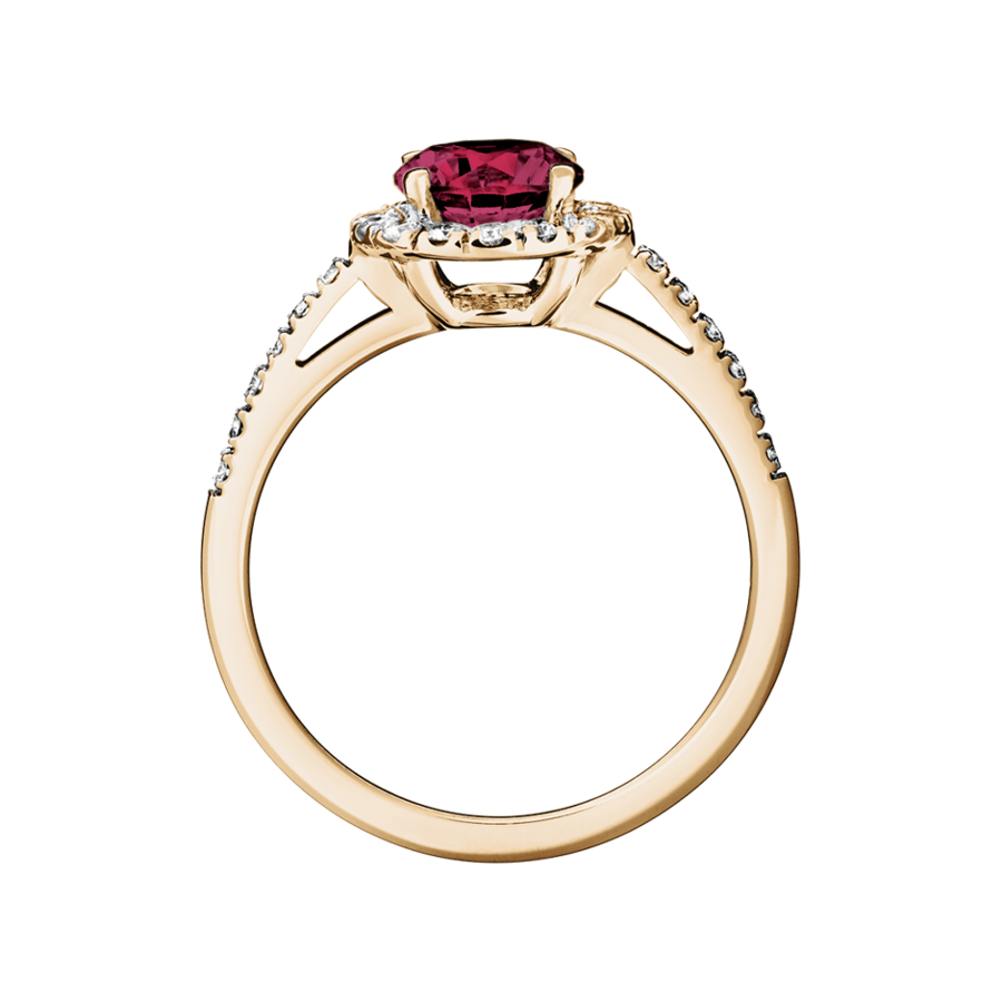 Prague Rhodolite red in Rose Gold