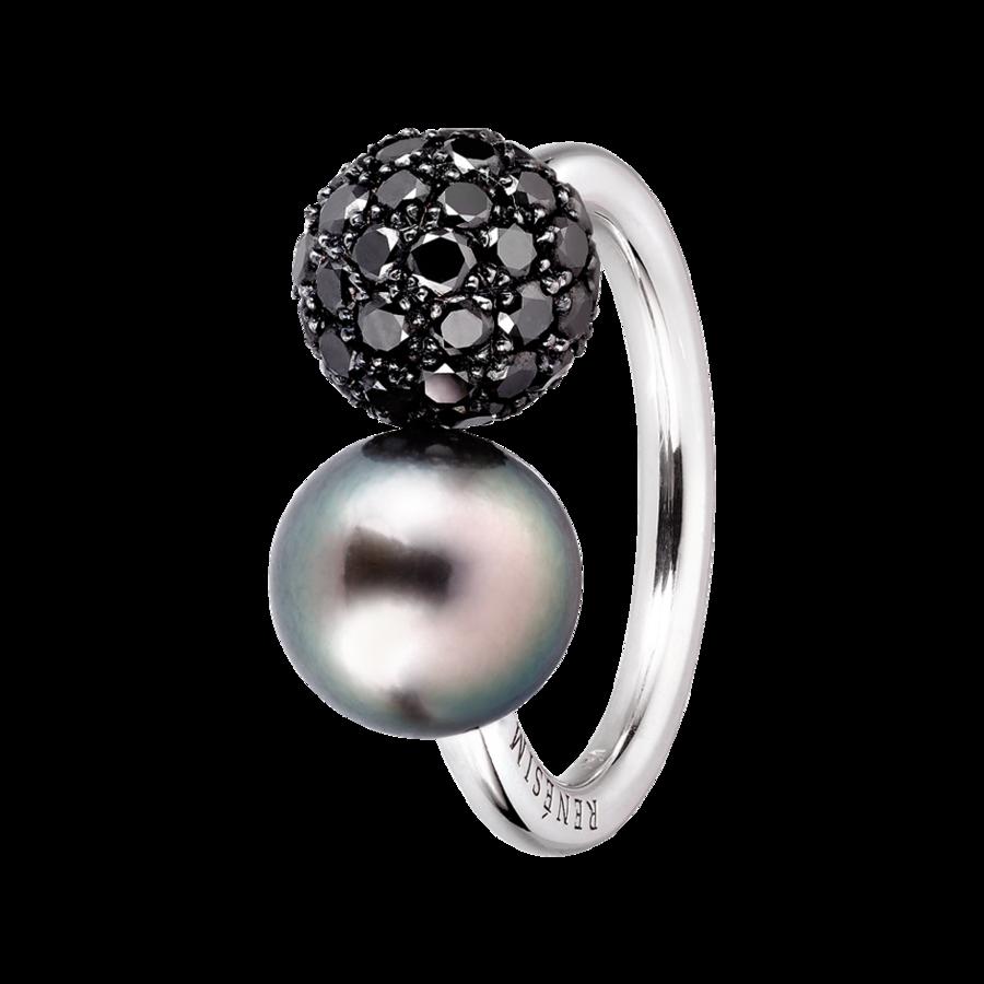 cocktailringe ring tahiti schwarzer diamant rensim. Black Bedroom Furniture Sets. Home Design Ideas