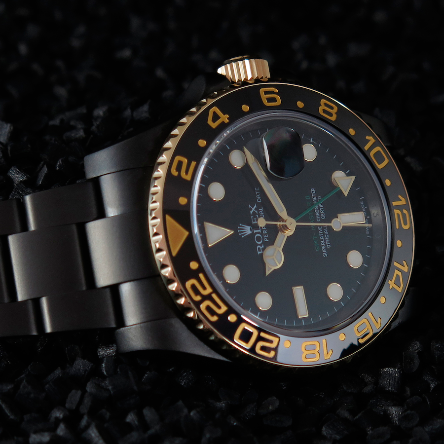 Rolex GMT Master II Gold Individual in Oyster Gehäuse