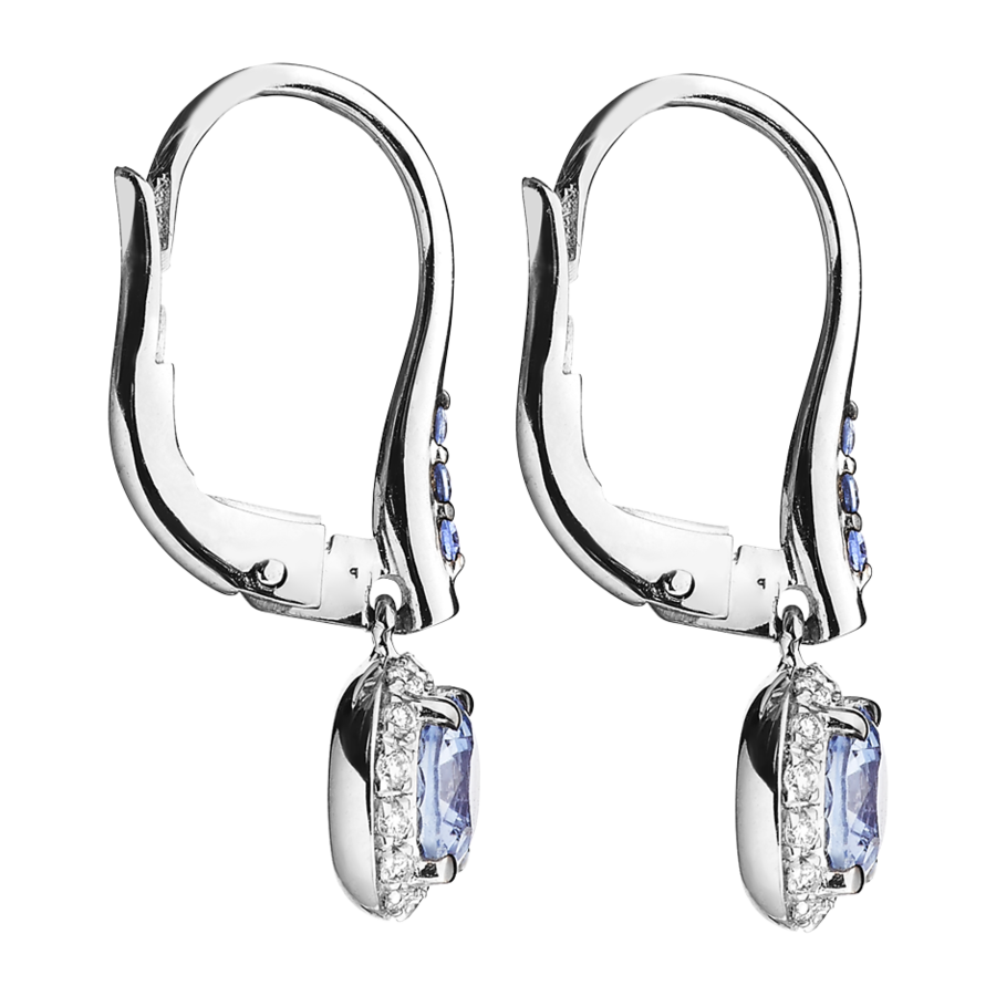Romance Earrings in White Gold