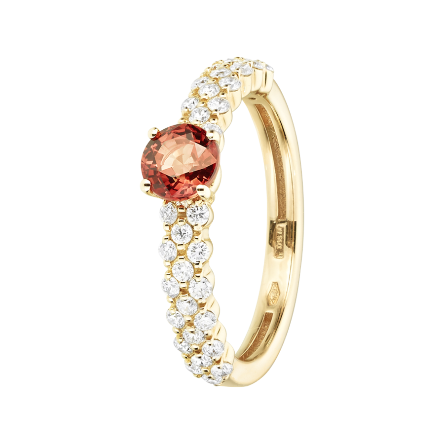Romance Ring Triple in Gelbgold