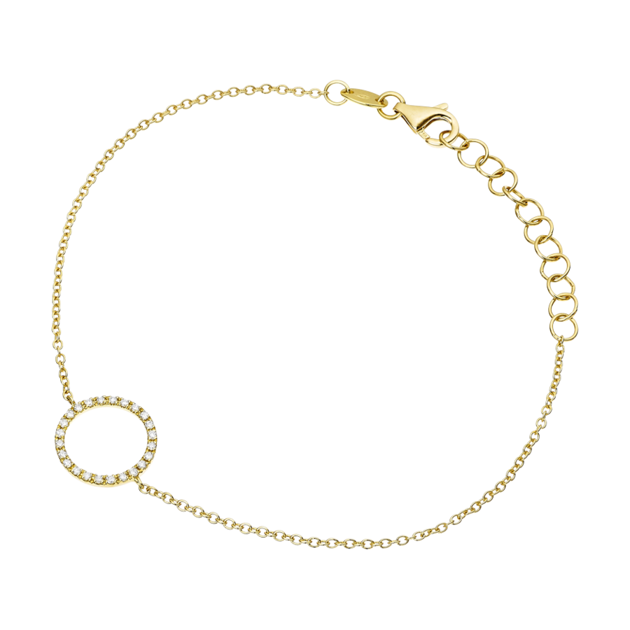 Starters Bracelet Circle in Yellow Gold