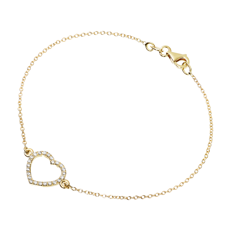 Starters Bracelet Heart in Yellow Gold