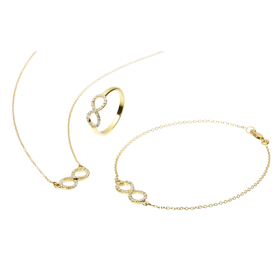 Starters Necklace Infinity in Yellow Gold