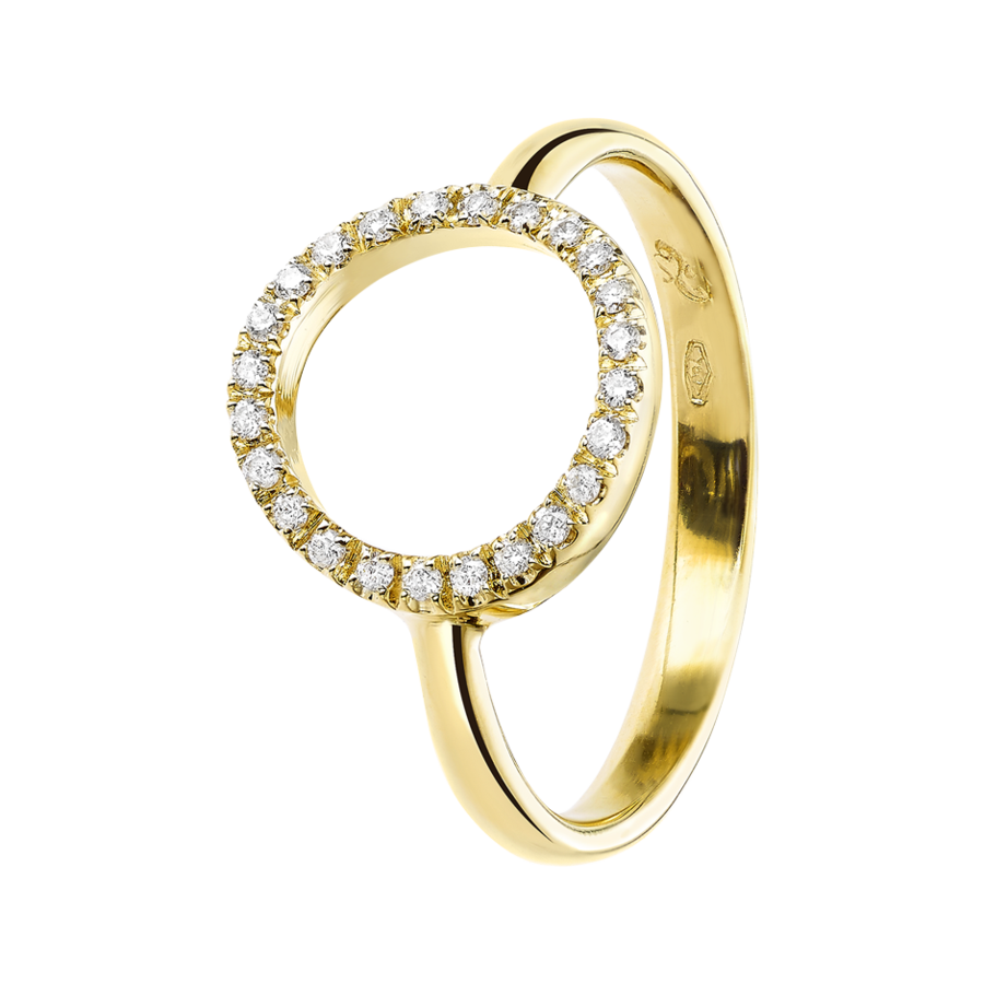 Starters Ring Circle in Yellow Gold