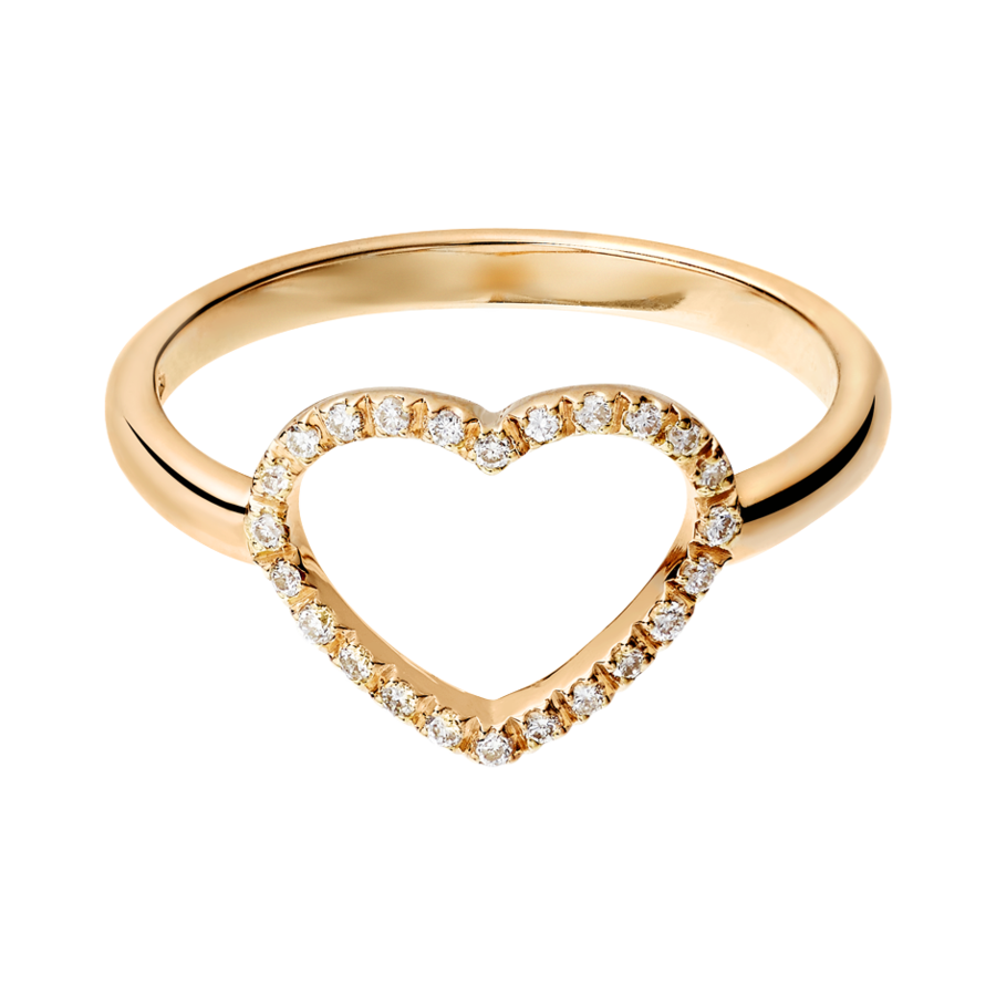 Starters Ring Heart in Rose Gold