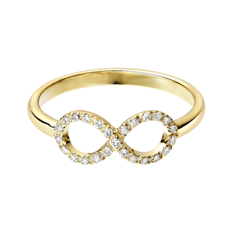 Starters Ring Infinity in Yellow Gold