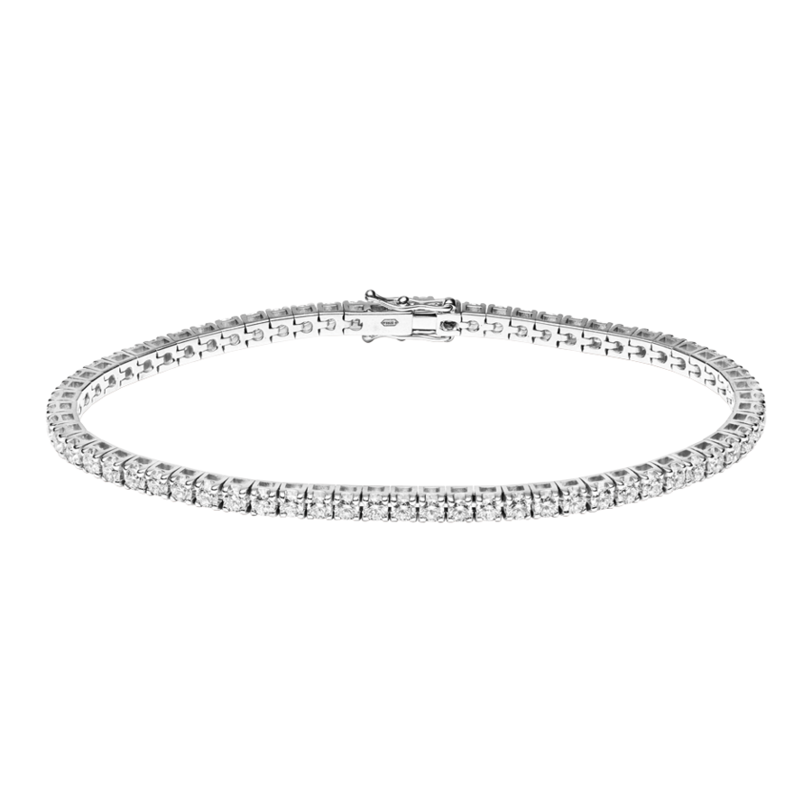 Tennisarmband 3,28ct in Weißgold