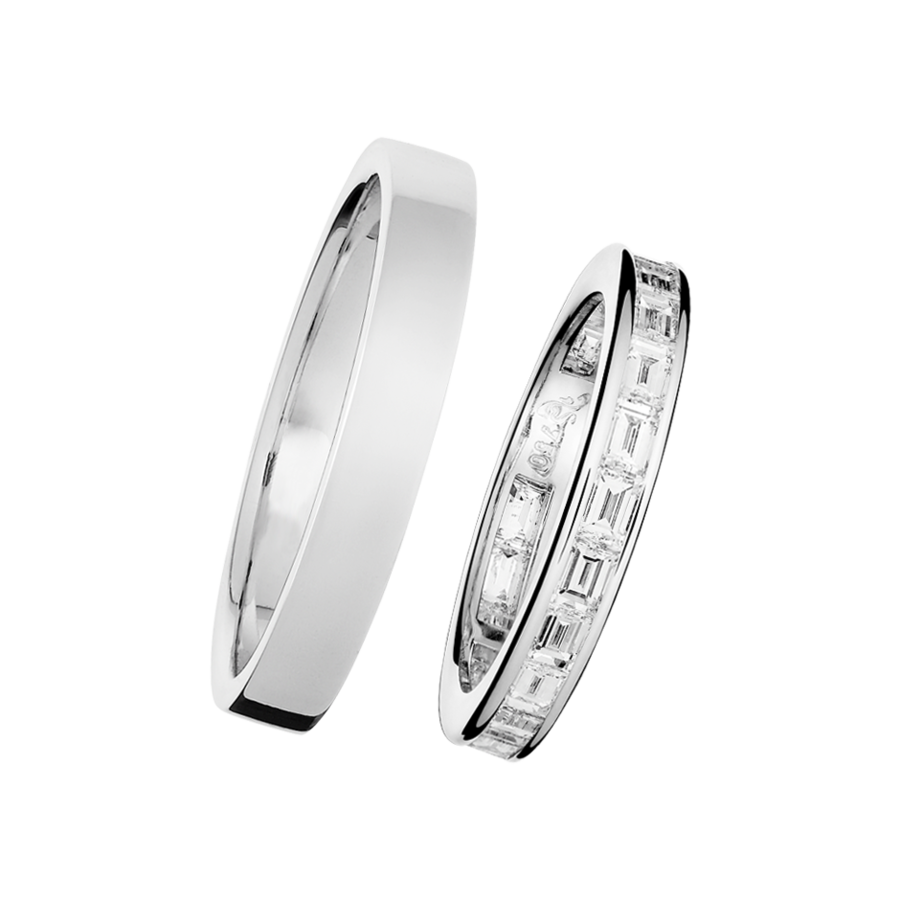 Trauringe mit Memoire Ring Nizza in Platin