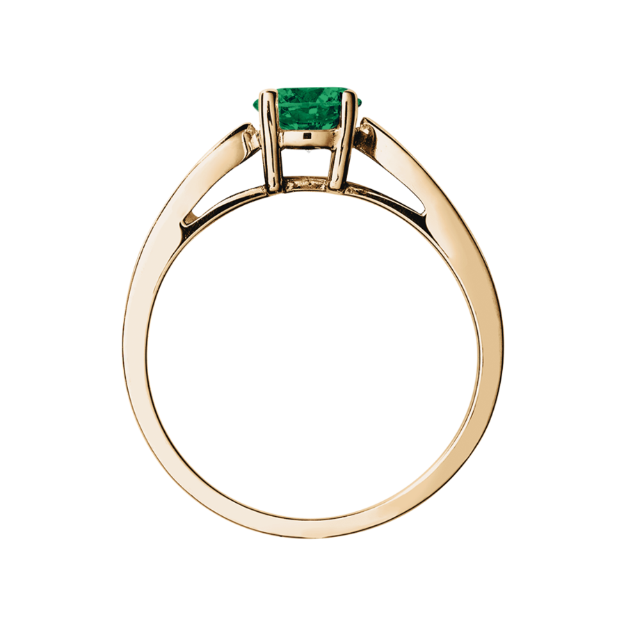Vancouver Emerald green in Rose Gold
