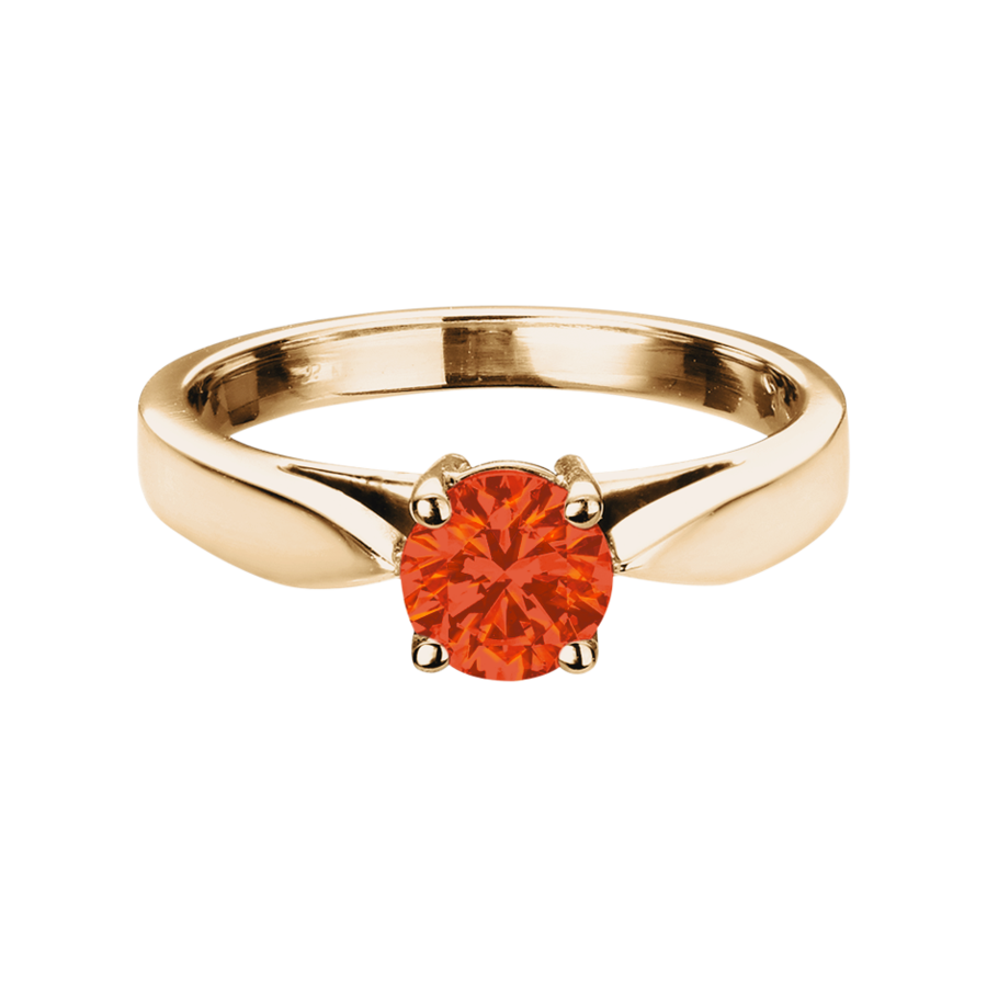 Vancouver Feueropal orange in Roségold