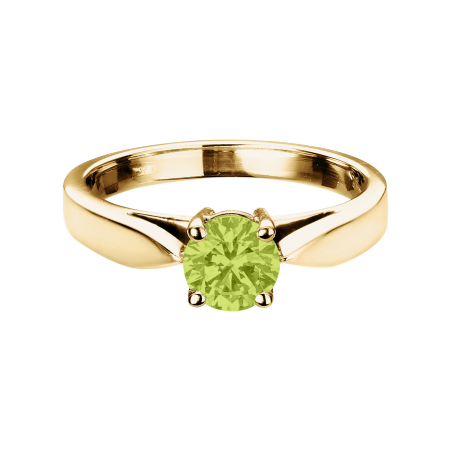 Vancouver Peridot grün in Gelbgold