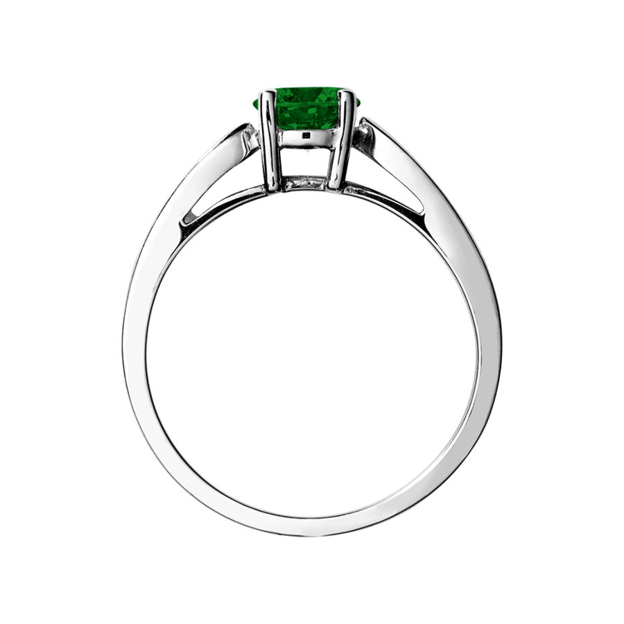 Vancouver Tourmaline green in Platinum