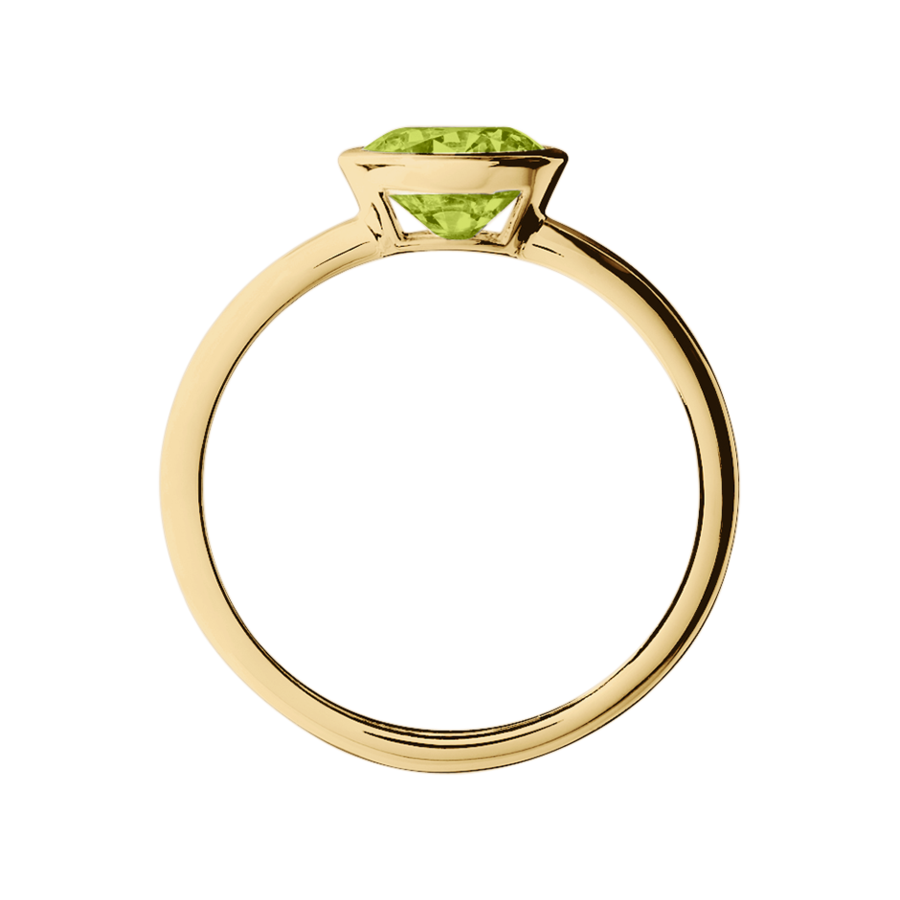 Vienna Peridot green in Yellow Gold