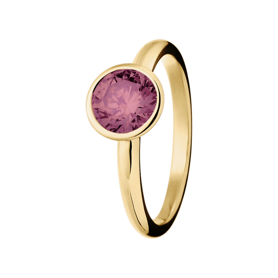 Vienna Tourmaline pink in Yellow Gold