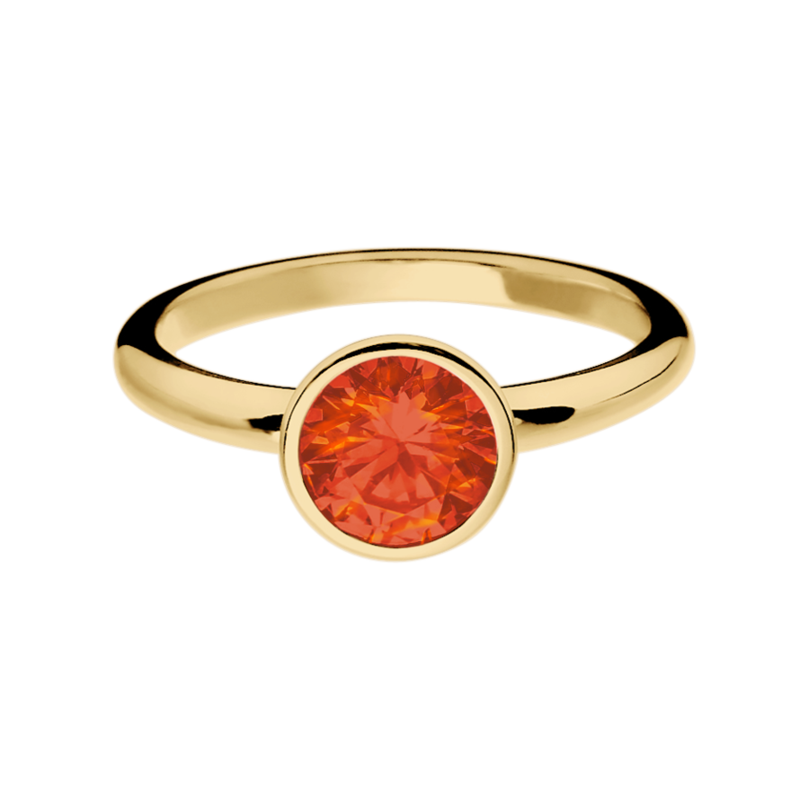 Wien Feueropal orange in Gelbgold
