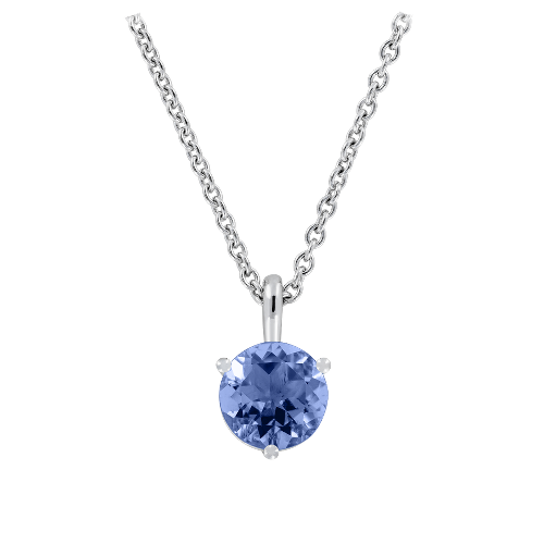 Pendant 3-Prong Setting with a blue Tanzanite