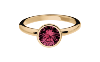 Gemstone Ring Vienna Rhodolite red in Rose Gold