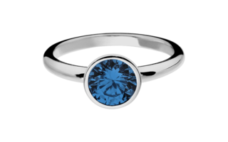 Gemstone Ring Vienna Sapphire blue in White Gold