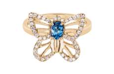 <br/>Collections de bijoux RENÉSIM<br/>– Bague Papillon Aigue-marine