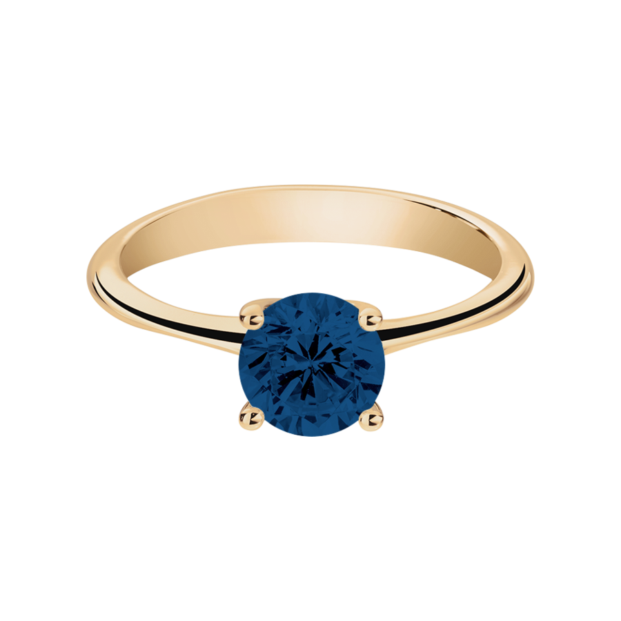 Basel Sapphire blue in Rose Gold