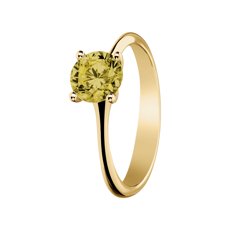 Basel Sapphire yellow in Yellow Gold