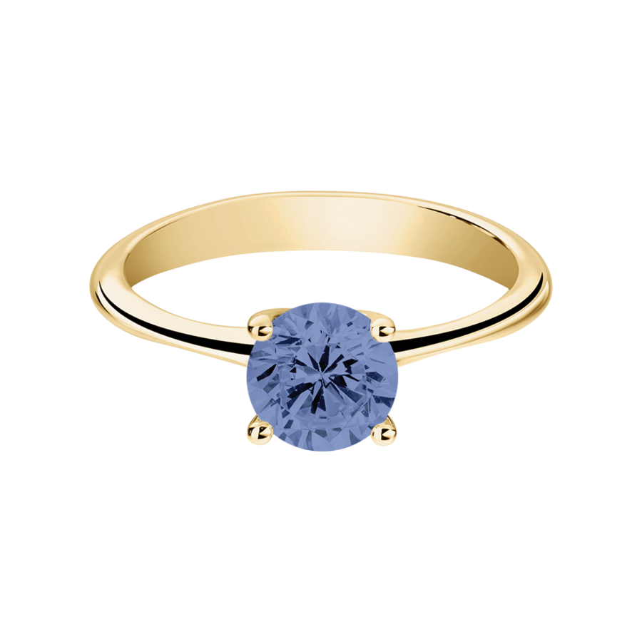 Basel Tanzanite blue in Yellow Gold