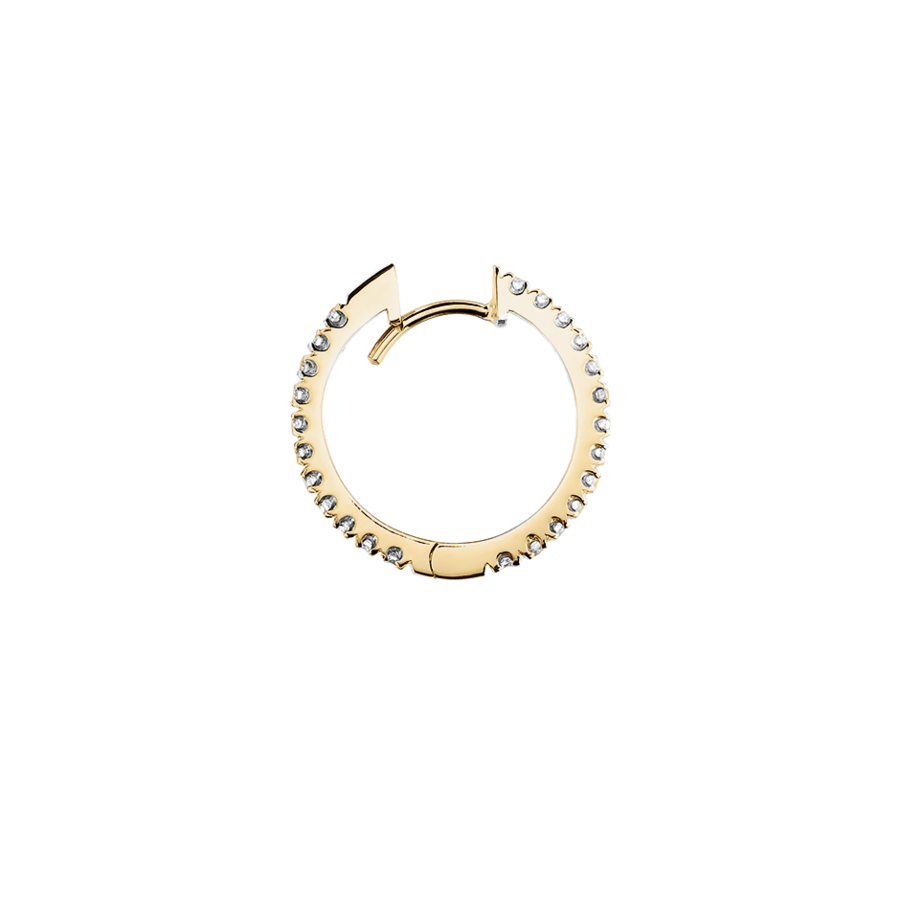 Diamond Hoop Earrings I in Yellow Gold
