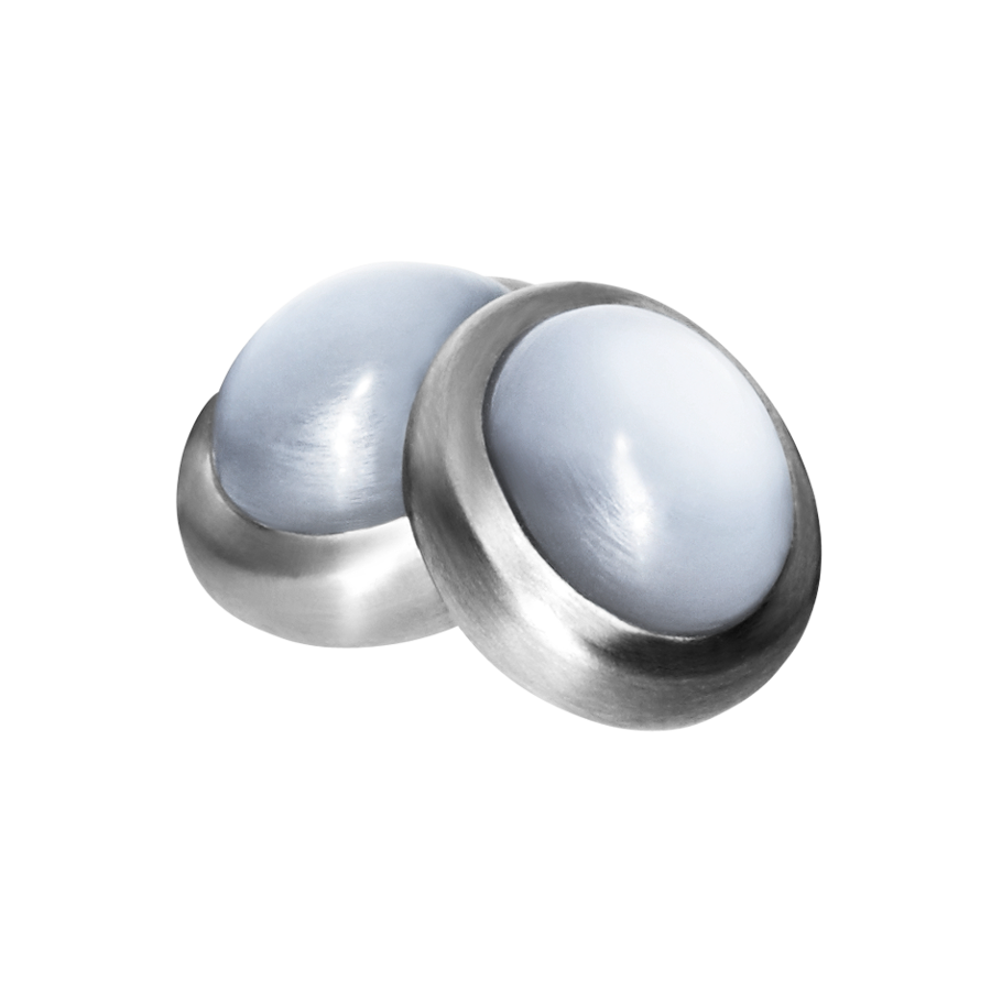Gents Cufflinks Moonstone in Palladium