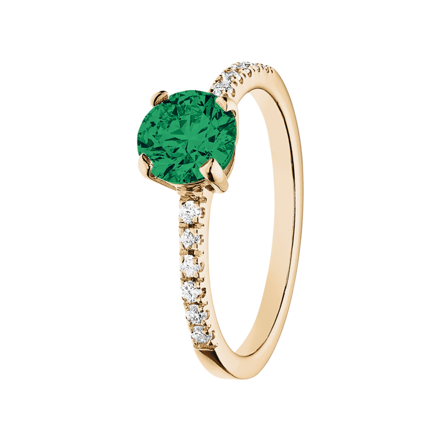 Melbourne Emerald green in Rose Gold