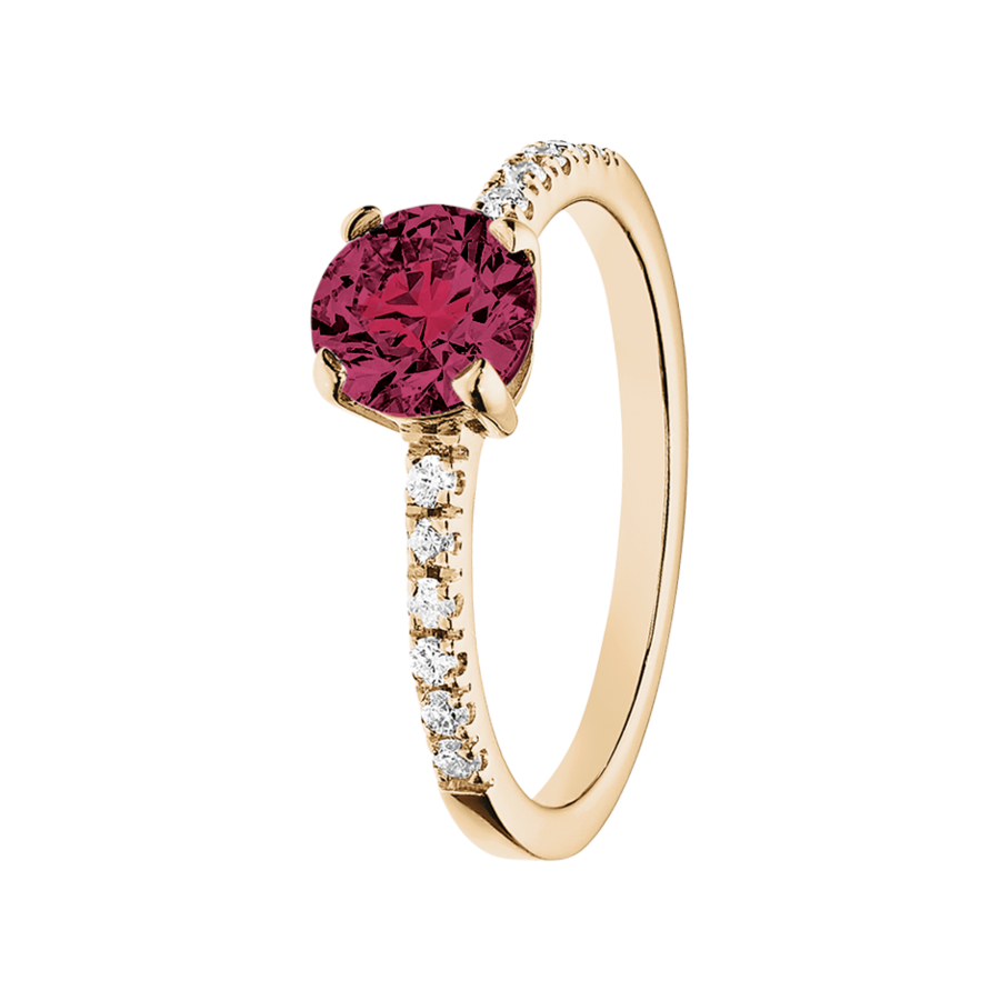 Melbourne Rhodolite red in Rose Gold