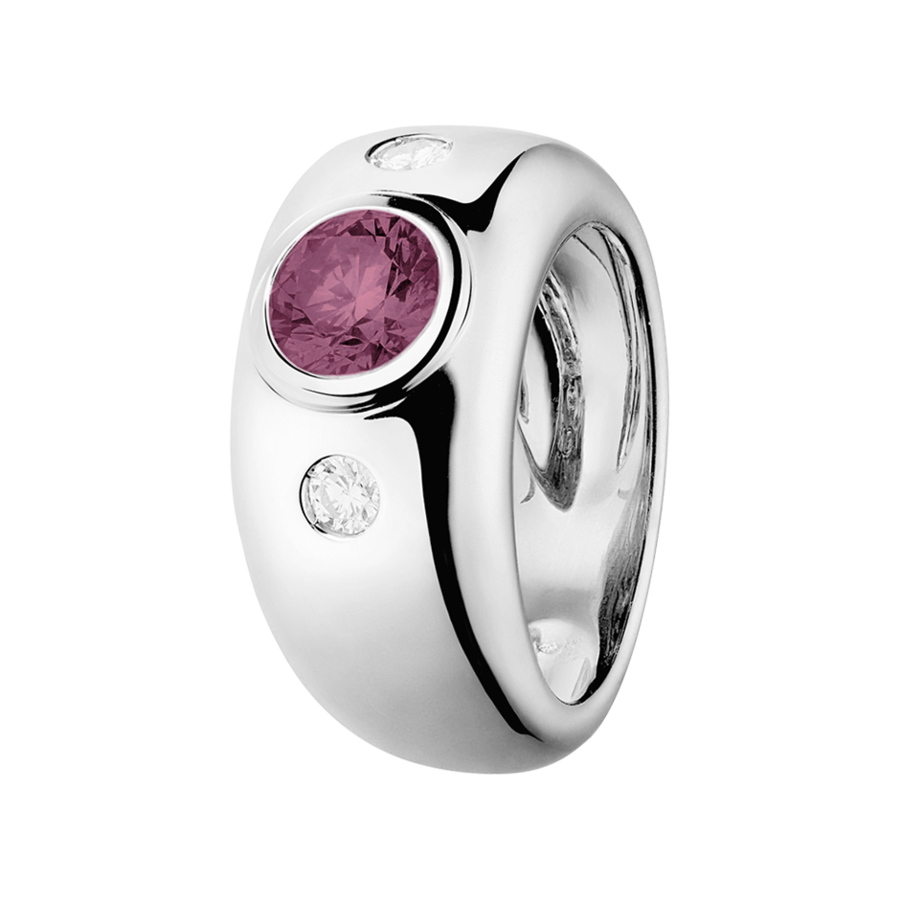 Naples Tourmaline pink in White Gold
