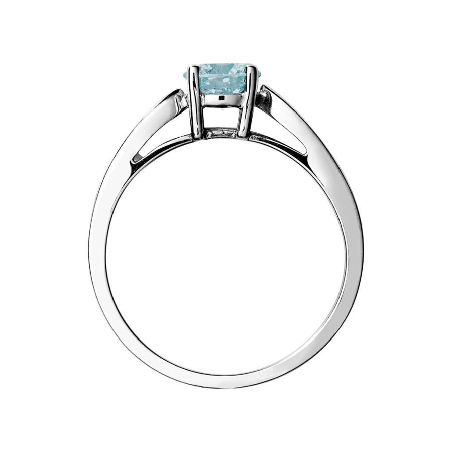 Vancouver Aquamarine Blue in Platinum